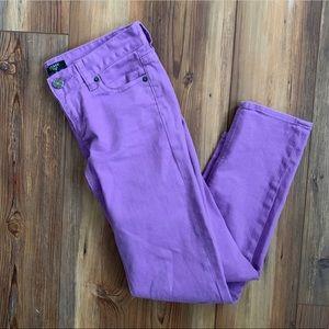 J. Crew Lilac Purple Matchstick Stretch Crop Jeans
